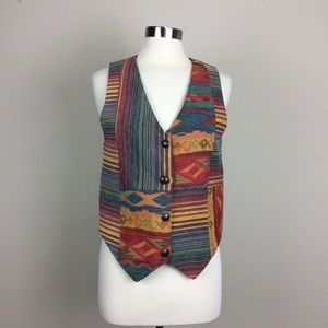 Vintage Starfire southwest tapestry vest